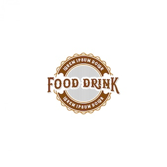 Logo napojów spożywczych, restauracja w stylu vintage i kawiarnia
