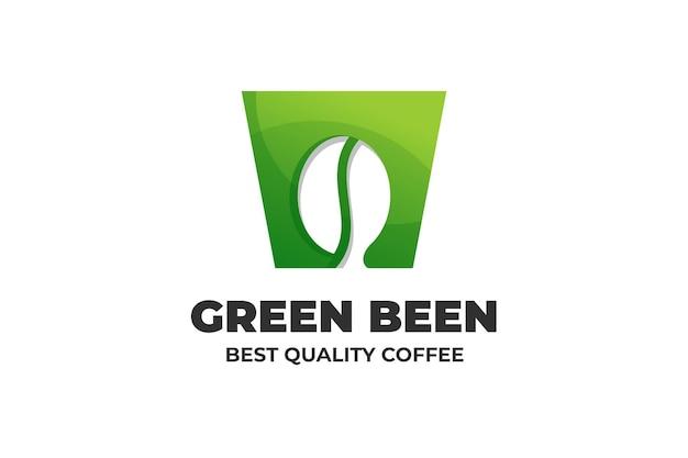 Logo napoju z zielonej fasoli
