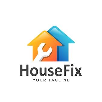 Logo naprawy domu proste czyste.