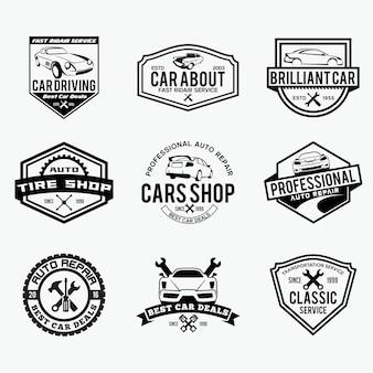 Logo naprawy samochodu