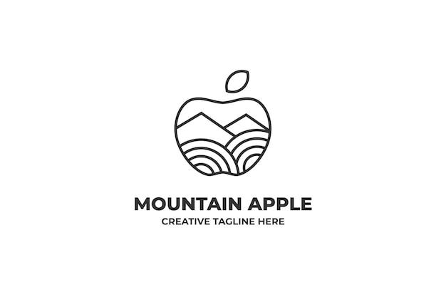 Logo natury apple mountain farm
