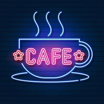 Logo neonowe cafe