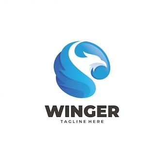 Logo niebieski ptak
