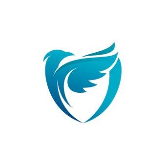 Logo niebieskiej tarczy ptaków