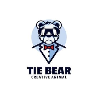 Logo niedźwiedzia maskotka stylu cartoon.