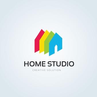 Logo nieruchomości, logo home care, własność, logo domu, dom i budynek, szablon logo firmy