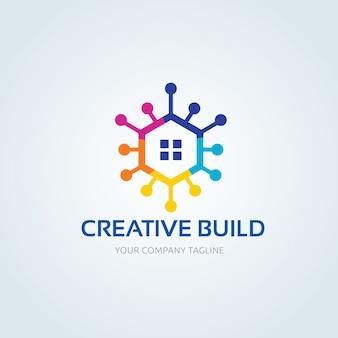Logo nieruchomości, logo kreatywnego budynku, własność, logo domu, dom i budynek, szablon logo firmy