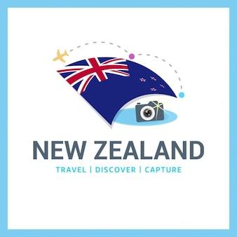 Logo nowa zelandia travel
