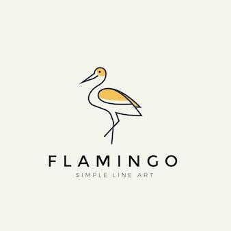 Logo nowoczesnej linii flamingo