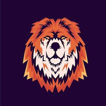 Logo nowoczesnej maskotki lwa
