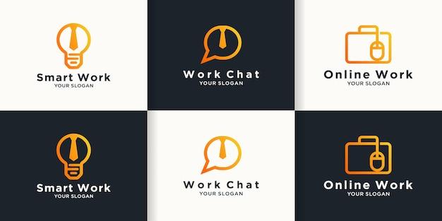 Logo o logo kombinacji pracy