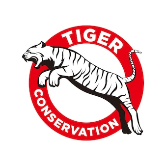 Logo ochrony tygrysa