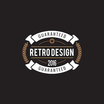 Logo odznaka vintage etykiety.