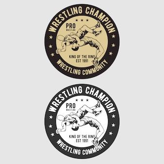 Logo odznaka zapaśnicza