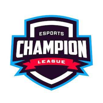 Logo Odznaki Ligi Mistrzów E-sportu Premium Wektorów