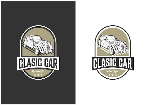 Logo odznaki retro klasycznego samochodu
