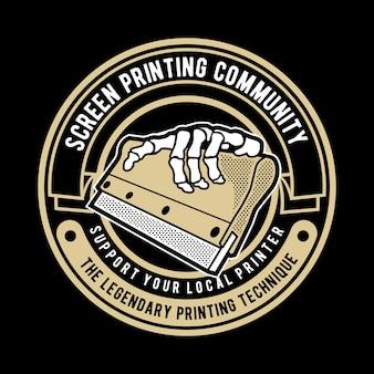 Logo odznaki ściągaczki