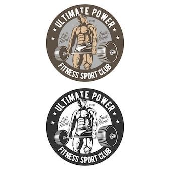 Logo odznaki siłowni