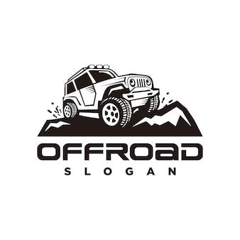 Logo offroad, logo samochodu przygodowego