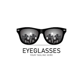 Logo okulary, symbol okularów, ilustracja