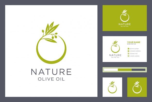 Logo oliwy z oliwek z projektem wizytówki