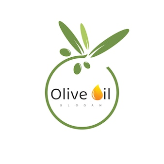 Logo oliwy z oliwek z symbolem kropli