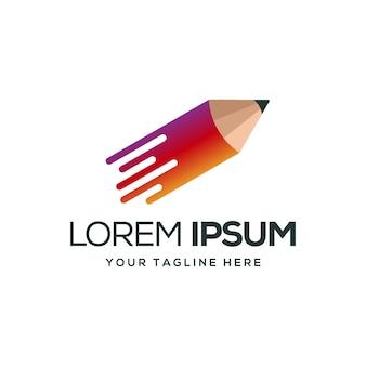 Logo ołówka tecno