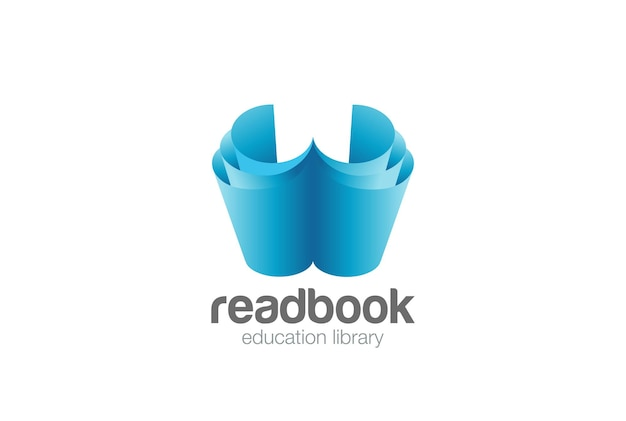 Logo open book pages.