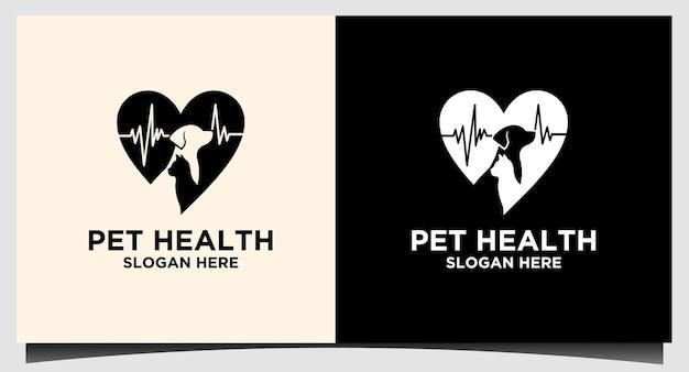 Logo opieki zdrowotnej dla zwierząt domowych w szpitalu wektor