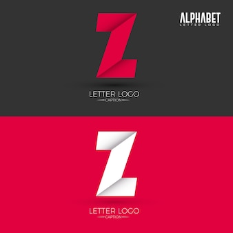 Logo origami style z letter