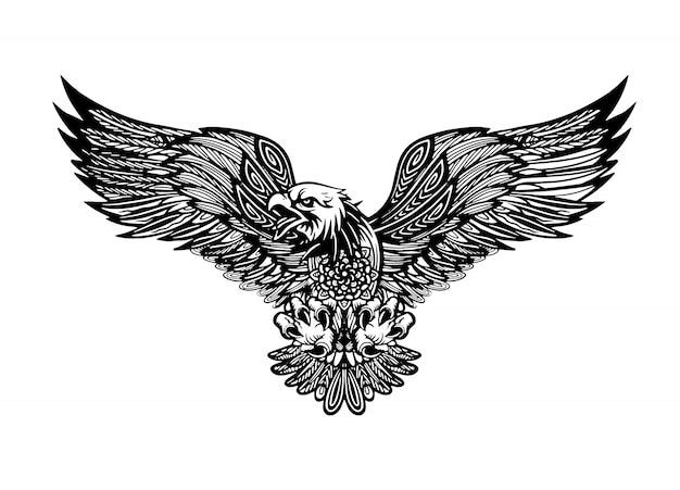 Logo orła na białym tle