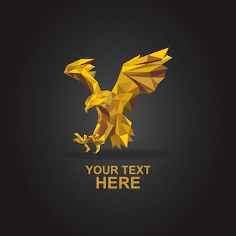 Logo orła poli złoto