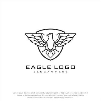 Logo orzeł tarcza nowoczesny design
