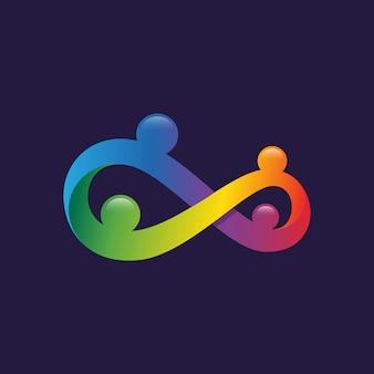 Logo osób infinity