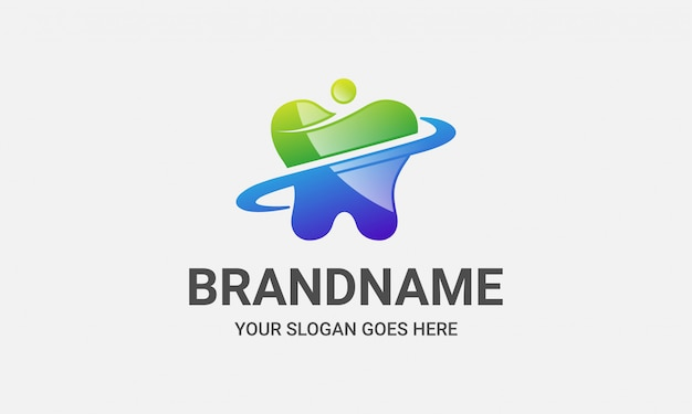 Logo osób opieki kliniki dentystycznej