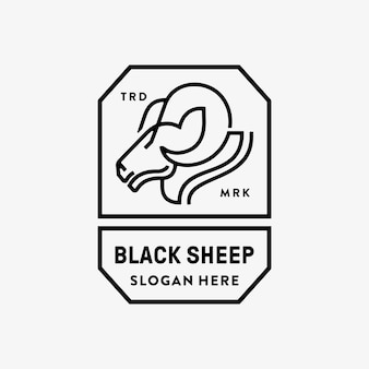 Logo owiec monoline