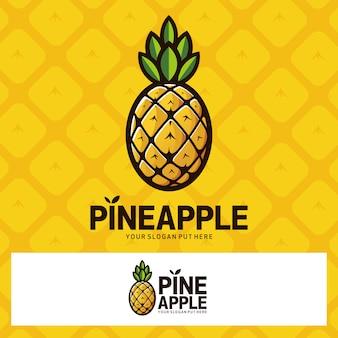 Logo owoców ananasa