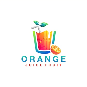 Logo owoców soku pomarańczowego