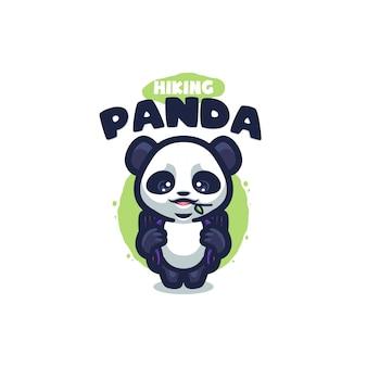 Logo panda cartoon dla twojej firmy