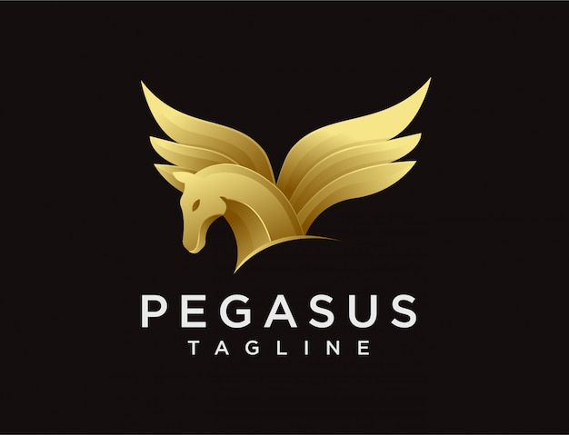 Logo pegaz nowoczesnej elegancji