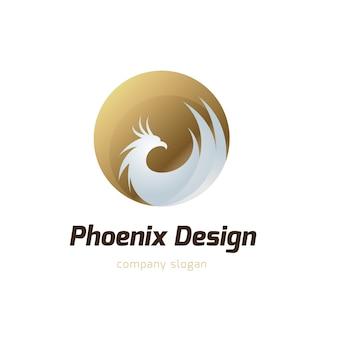 Logo phoenix, symbol znaku orła i ptaka. szablon logo.