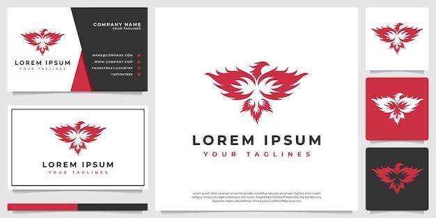 Logo phoenix w minimalistycznym, nowoczesnym stylu