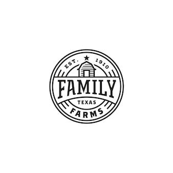 Logo pieczęci etykiety vintage barn farm