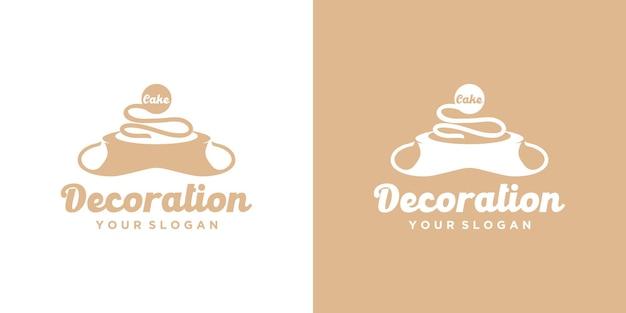 Logo piekarni, logo ciasta, odniesienie dla biznesu