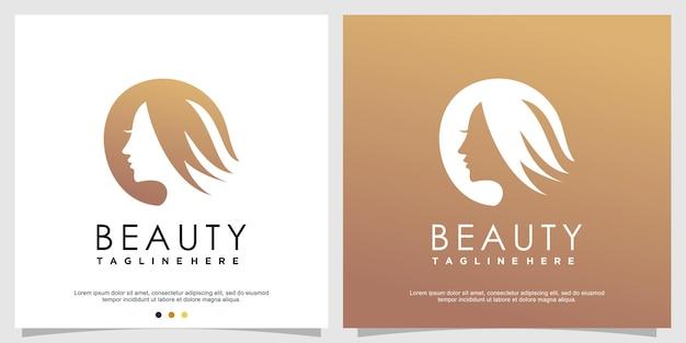 Logo piękno dla kobiety premium wektorów