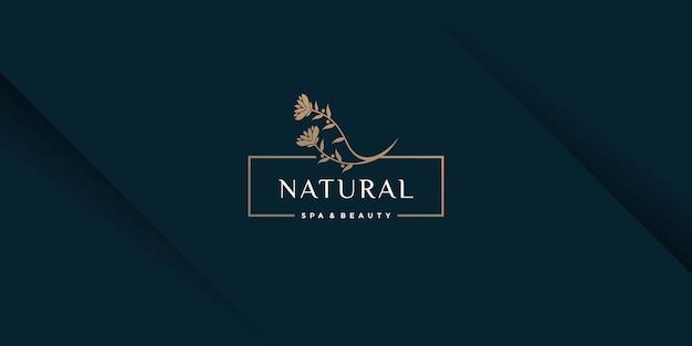 Logo piękno z koncepcją elementu kreatywnego premium wektorów 5