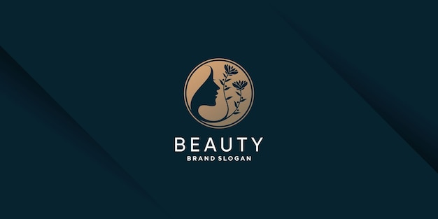 Logo piękno z koncepcją elementu kreatywnego premium wektorów 6