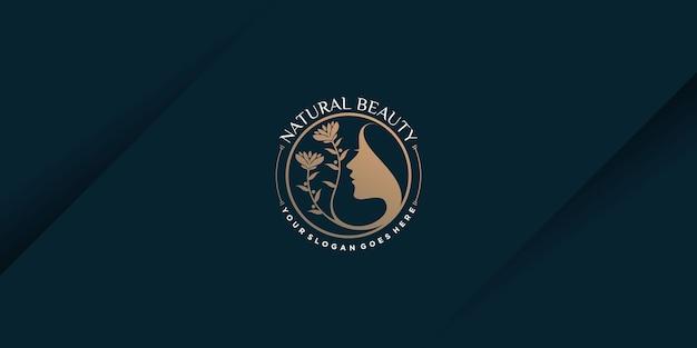 Logo piękno z koncepcją elementu kreatywnego premium wektorów część 1