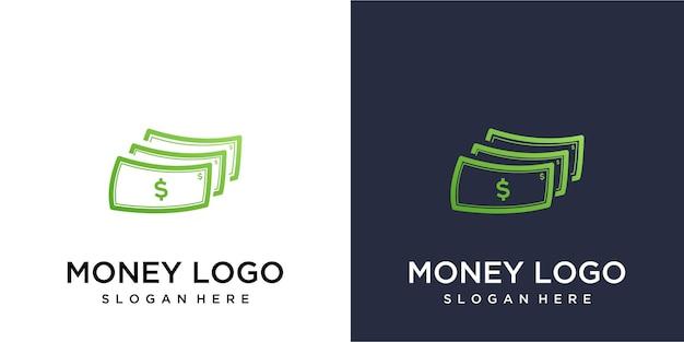 Logo pieniędzy dla firm