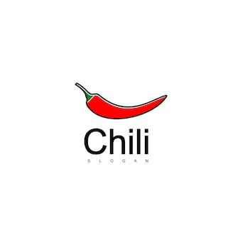Logo pikantne chili, czerwona ikona chili
